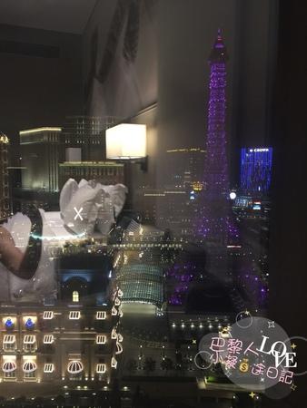 從新濠影匯明星匯房間向外看可以看到澳門巴黎人真的不錯的澳門住宿推薦.jpg